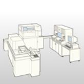 省スペース検体分析自動搬送システム